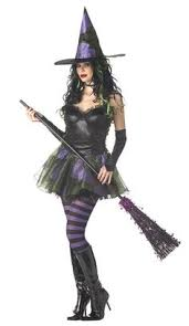 Wicked Witch Halloween Costume Witch Costume Halloween Thigh Highs Black Lacey Pirate Stripe