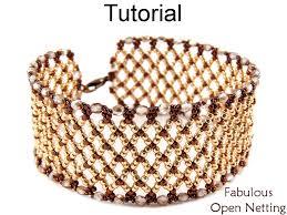 beading bracelet images Beading tutorial pattern bracelet netting stitch simple bead jpg