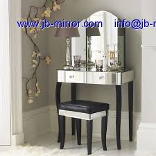 glass vanity table with mirror modern glass venetian mirrored art deco dressing table mirror desk