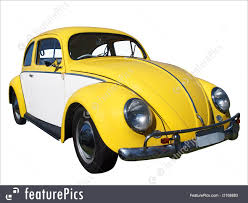 old volkswagen yellow auto transport yellow and white beetle stock picture i2168883