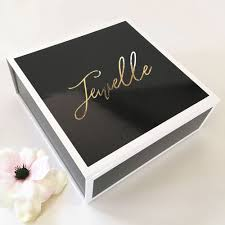 personalized boxes black gift boxes