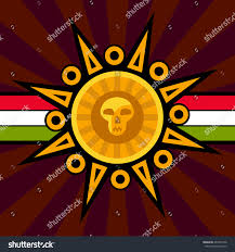 Colors Of The Mexican Flag Mexican Sun Logo On Mexican Flag Stock Vector 493472758 Shutterstock