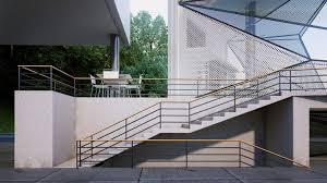 Villa Stairs Design Urban Office Architecture Designs Geometric Aviator U0027s Villa