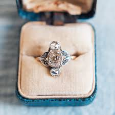 nouveau engagement rings vintage nouveau engagement ring herringbone