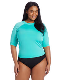 Women S Plus Size Petite Clothing Kanu Surf Women U0027s Plus Size Breeze Rashguard At Amazon Women U0027s