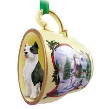 pit bull terrier teacup ornament figurine