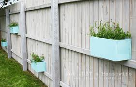 Backyard Fences Ideas by Exterior Pretty Small Potted Plants On Vintage Wooden Backyard