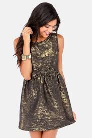 pretty new years dresses pretty gold dress black dress metallic dress 47 00