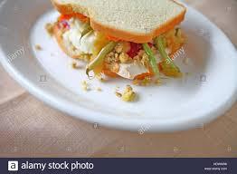 sandwich of thanksgiving dinner leftovers including turkey