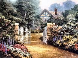 Thomas Kinkade Clocktower Cottage by 380 Best Art Charming Castles U0026 Cottages Images On Pinterest