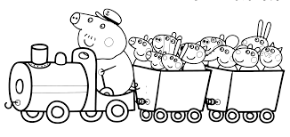 pig grandpa pig u0027s train peppa pig friends