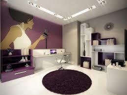 Purple Computer Desk by Interior Design Warm Floating Computer Desk With Round Purple Rug
