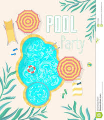 summer pool party invitation posters card vector stock vector