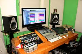 Music Studio Desks by Nice Layout With Built In Imac On Right Side Recording Studio
