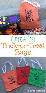 oriental trading company halloween 5 little monsters quick and easy trick or treat bags