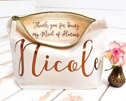 bridal party makeup bags wedding thank you gift personalised bridesmaid gift make up