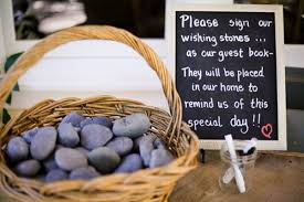 guest signing stones 18 totally unique memorial service guest book ideas