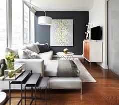 kleines wohnzimmer kleines wohnzimmer einrichten akzentwand wohnmöbel retro stil