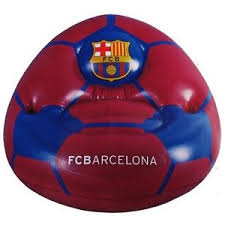 official fc barcelona youth inflatable chair bean bag chairs new
