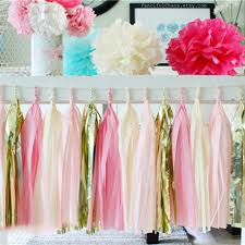 Curtains With Pom Poms Decor 5 Sheets 10 14 Inch Tissue Paper Tassels Garland Ribbon Curtain