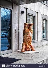 berlin buddy bear colourful urban fibre glass bear doing a stock