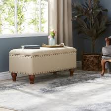bench wonderful tufted brown leather padded storage in popular