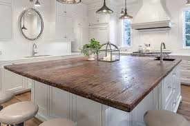 reclaimed wood kitchen islands the barn in the kitchen custom growth wood counter top and