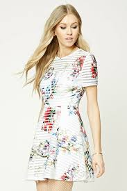 fit and flare dress forever 21 forever 21 floral fit and flare dress summer dresses from