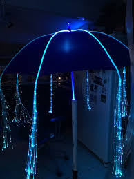 fiber optic light strands light up umbrella shaft with fiber optic light strands glows for