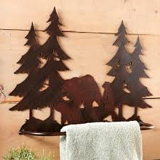 Bathroom Towel Tree Rack Rustic Towel Bars And Lodge Bathroom Accessories