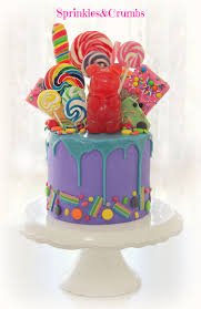 wonka drip cake featuring a giant gummy bear birthday ideas