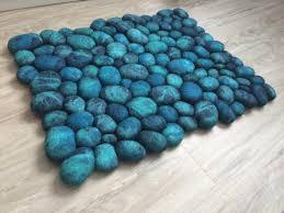 100 pebble stone rug handmade wool pebbles cobblestone rug