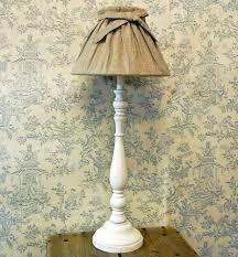 french shabby chic white table lamp