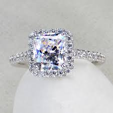 promise engagement rings images 3 ct center princess radiant cut nscd sona simulated diamond jpg