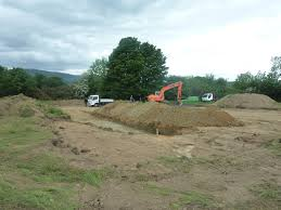 excavating to foundations house self build