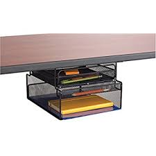 Under Desk Storage Drawers by Amazon Com Safco Products 3243bl Onyx Mesh Solid Top Vertical