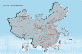 Grid Map Map Of Chinese Electricity Grid China National Energy Grids