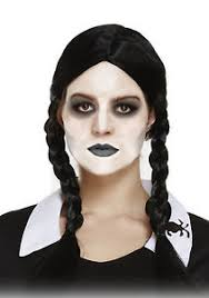 scary daughter plaited pig tail halloween wednesday addams fancy