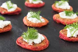 bellini canape beetroot blinis