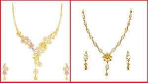 gold pendant necklace jewelry images Daily wear simple gold pendant necklace set designs ladies jpg