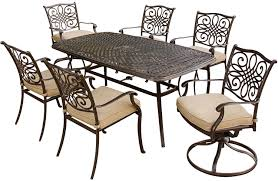 Patio Furniture Milwaukee Wi by Hanover 7 Piece Outdoor Dining Patio Set Traditions7pcsw