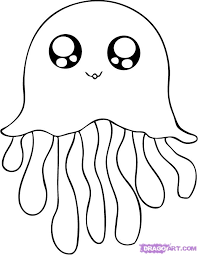 image of view full size more cute jellyfish coloring pages