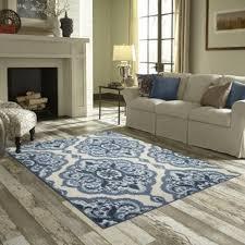 Blue Living Room Rugs | blue rugs you ll love wayfair
