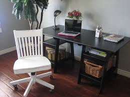 Glass Desk With Storage Furniture Gorgeous White Wood Stained Sawhorse Lowes Desk For