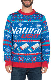 ugly christmas sweater with lights men s natural light ugly christmas sweater tipsy elves