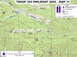 Philmont Scout Ranch Map Philmont 2002 Trek Route 20 Maps