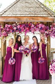 purple magenta bridesmaids dresses stunning colour theme for a