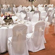 white banquet chair covers white chair covers with burlap and lace sleeve wedding
