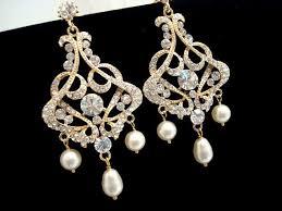 gold bridal earrings chandelier gold chandelier earrings bridal earrings wedding