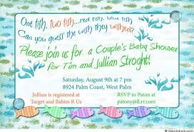 Fishing Themed Baby Shower - fish baby shower invitation enchanting undersea party